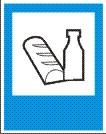 Знак: Место приема пищи