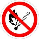 5. Знак: Запрещается пользоваться открытымогнем и курить